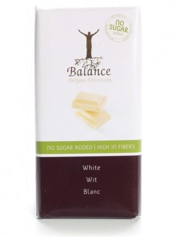 Reduced Sugar Belgian White Chocolate  bar - 100g
