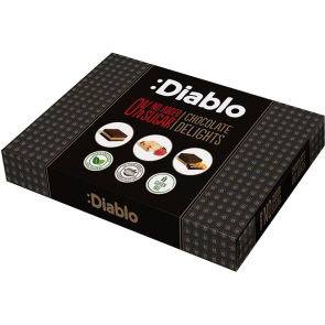 Diablo No Added Sugar  Chocolates with Stevia (115g Box)
