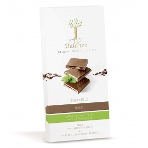 Balance No Added Sugar Belgian Milk chocolate bar - with Stevia 85g
